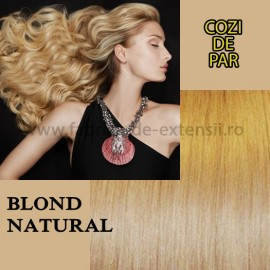 Cozi De Par Sintetice Blond Natural
