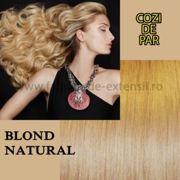 Cozi De Par Cu Dubla Intrebuintare Blond Natural