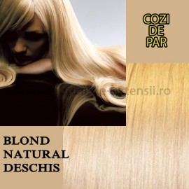 Cozi De Par Sintetice Blond Natural Deschis