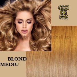 Cozi de Par cu Dubla Intrebuintare Blond Mediu
