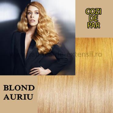 Cozi De Par Cu Dubla Intrebuintare Blond Auriu