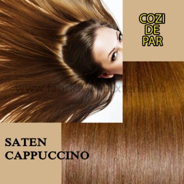 Cozi de Par cu Dubla Intrebuintare Saten Cappuccino