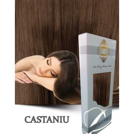 White Platinum Castaniu