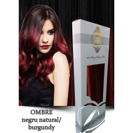 White Platinum Ombre Negru Natural Burgundy