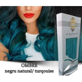 White Platinum Ombre Negru Natural Turqouise