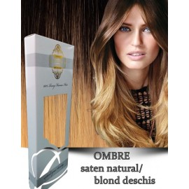 White Platinum Ombre Saten Natural Blond Deschis